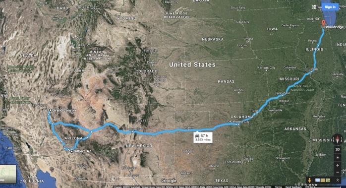 Chigaco to Grand Canyon